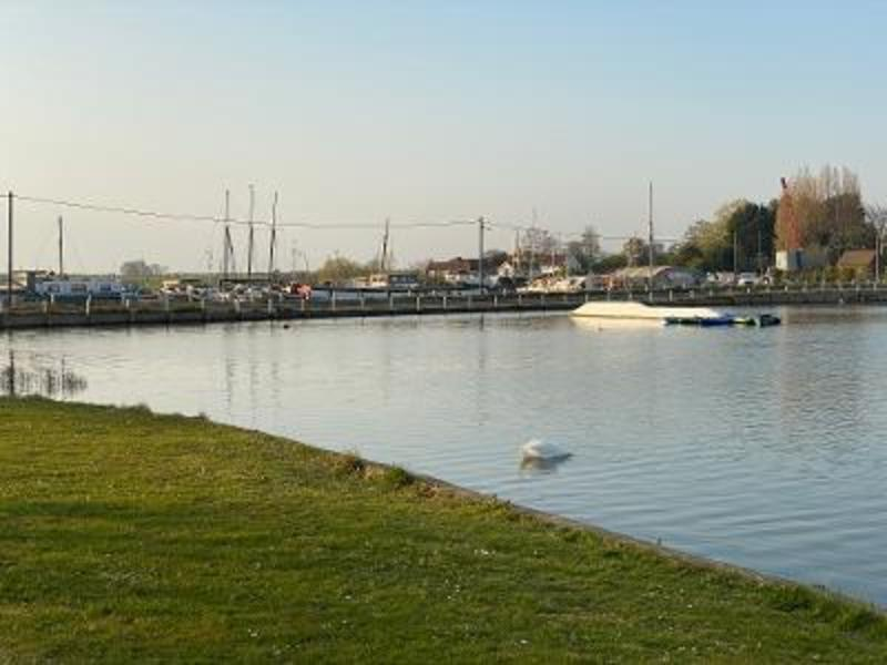 waterside camping in the historic Essex village of St Osyth #2