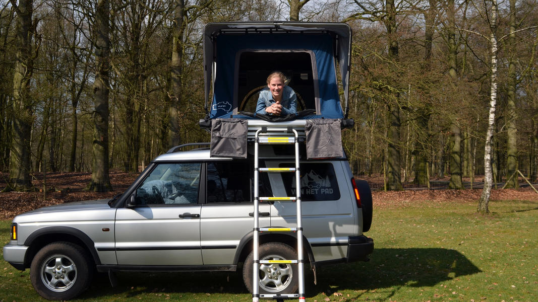 stoere Land Rover met daktent! #13
