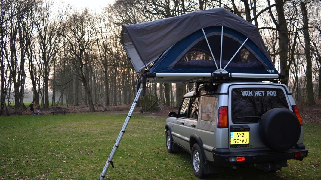 stoere Land Rover met daktent! #15