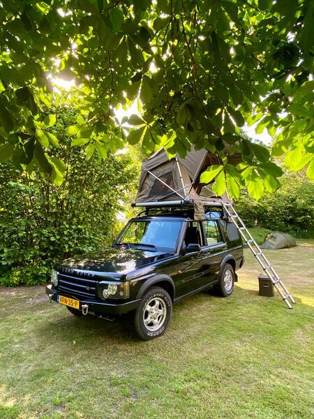 stoere Land Rover met daktent! #1