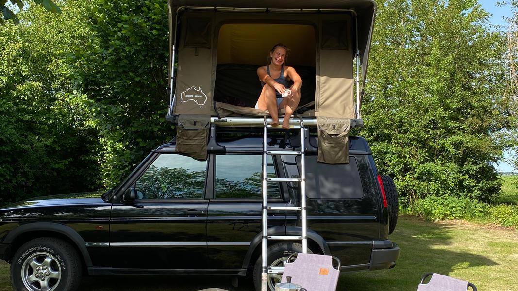 stoere Land Rover met daktent! #3