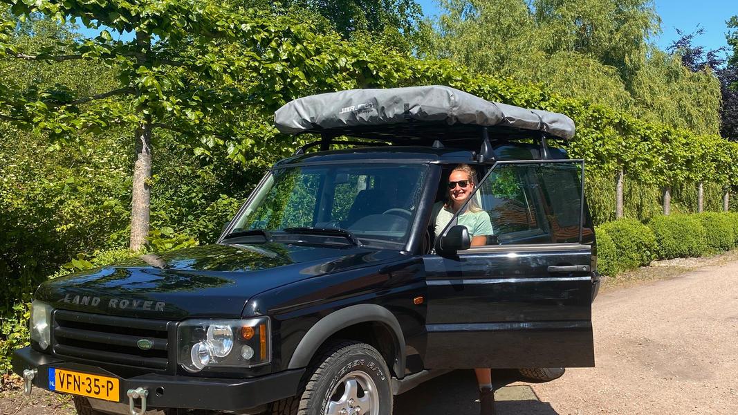 stoere Land Rover met daktent! #4