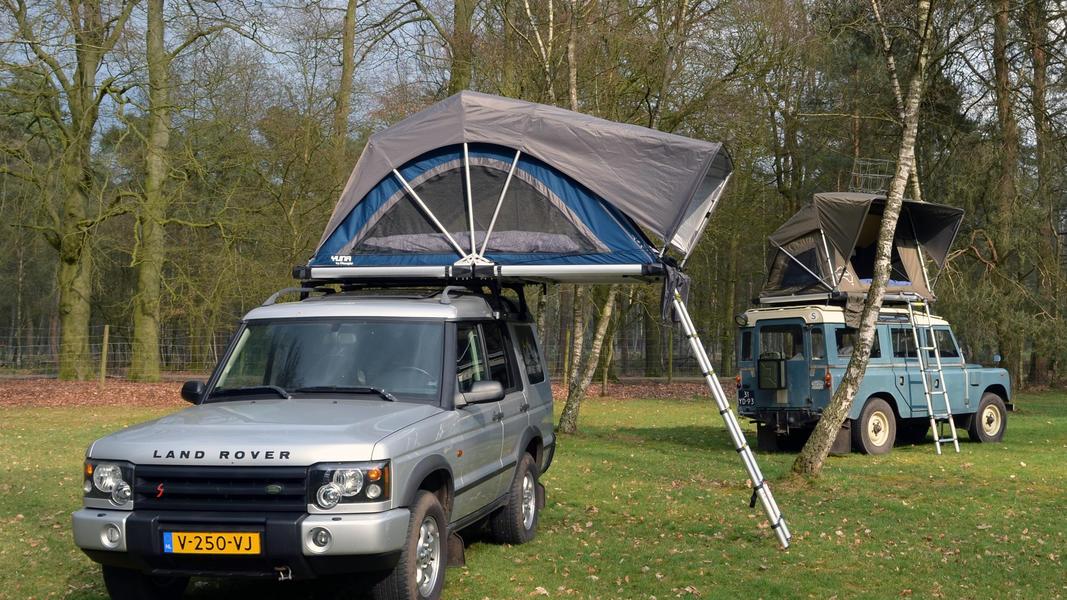 stoere Land Rover met daktent! #8