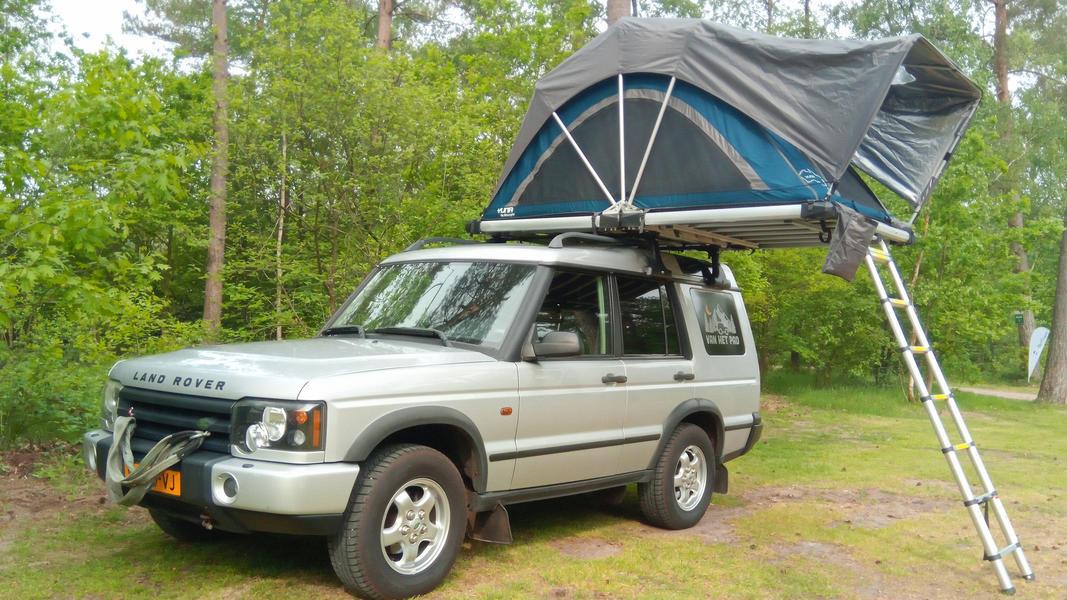 stoere Land Rover met daktent! #9