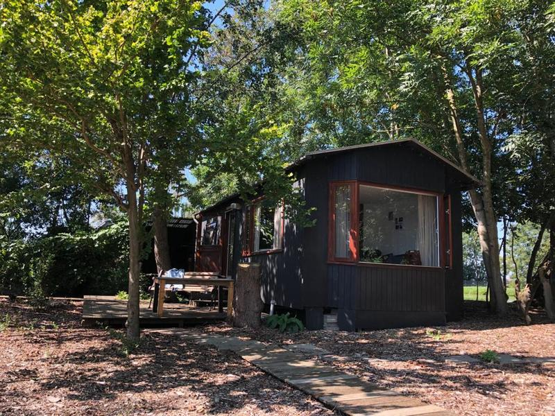 Wake up by the waterbirds in this tiny-house on a mini-island! #1
