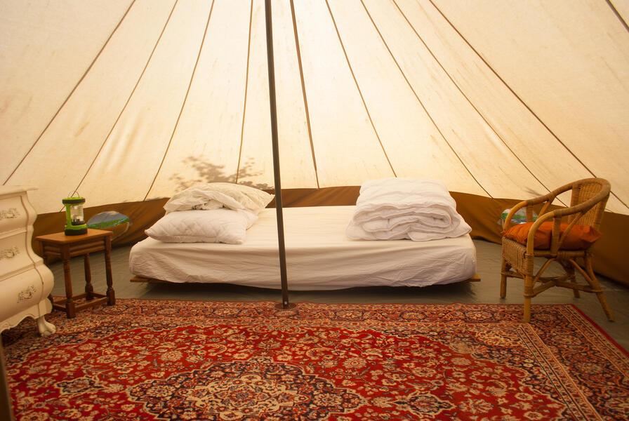 Camping in a de Waard Albatros, on the organic bynamic farm #2
