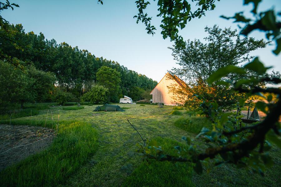 Romantic caravan by the forest #4