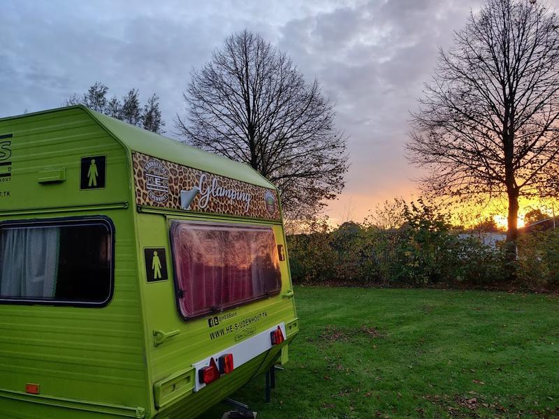 In the green caravan on the farm campsite near the Loonse en Drunense Duinen #6