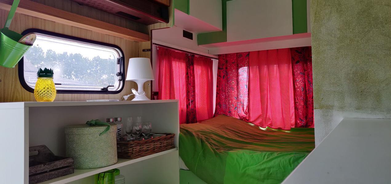 In the green caravan on the farm campsite near the Loonse en Drunense Duinen #4