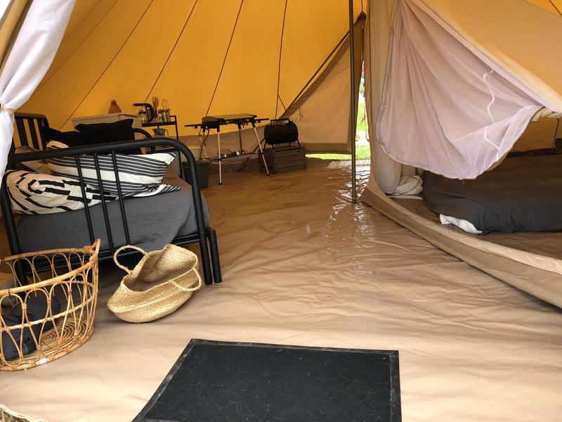 Cosily furnished Bell tent on an eco mini campsite on the outskirts of Sneek #13