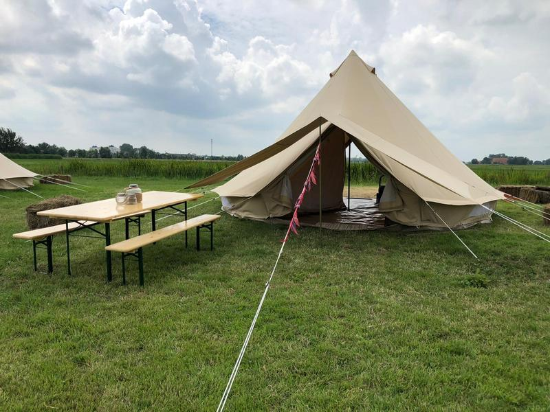 Cosily furnished Bell tent on an eco mini campsite on the outskirts of Sneek #14