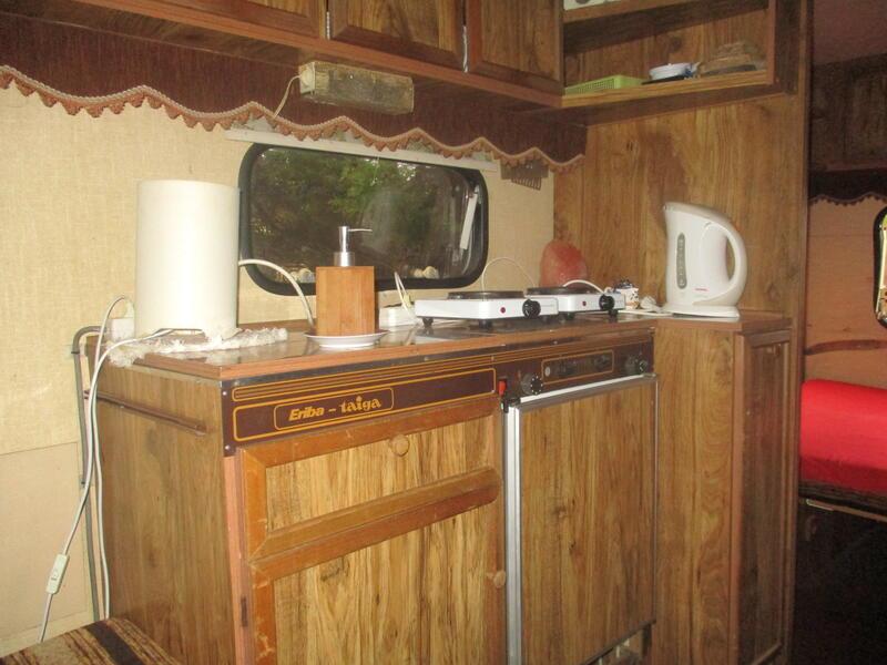 Romantic caravan by the forest #12