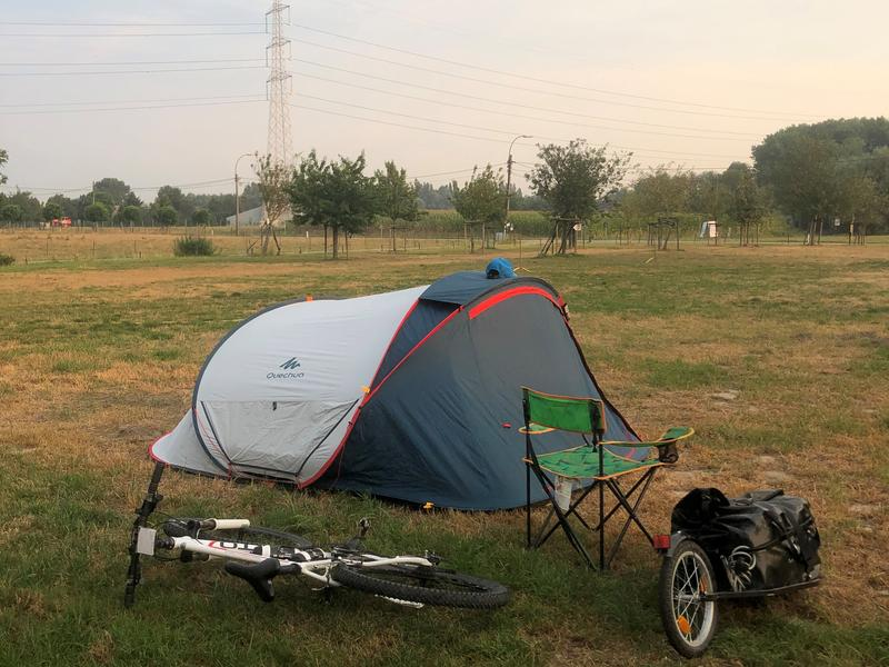 Pitch your tent between the trees or close to the pond #3