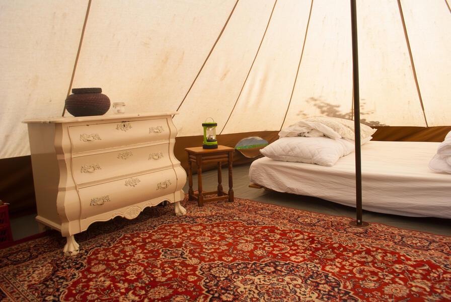 Camping in a de Waard Albatros, on the organic bynamic farm #8