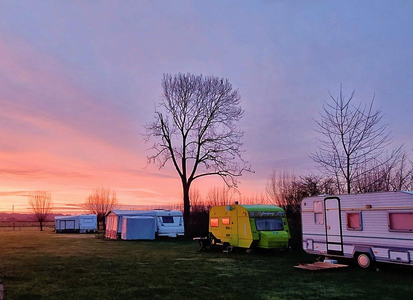 In the green caravan on the farm campsite near the Loonse en Drunense Duinen #2