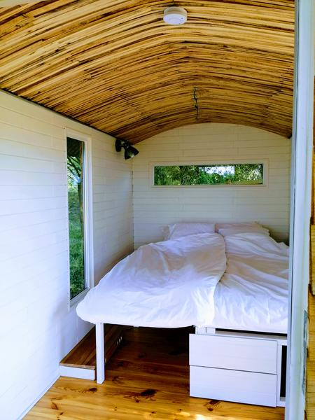 Quiet Camping Cabin with panoramic view / Selfmade gipsywagon with a beautiful view #2