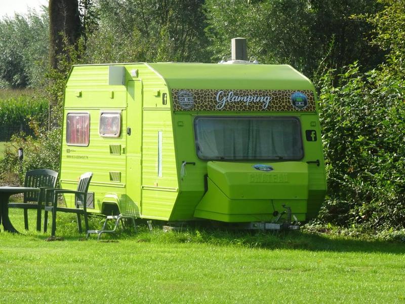 In the green caravan on the farm campsite near the Loonse en Drunense Duinen #1