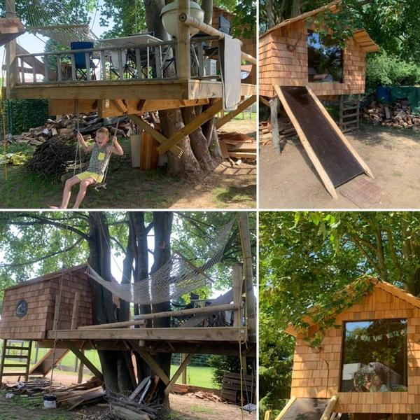 """Tree house at a height of 1.7 m, near Scherpenheuvel and nature reserve """"Averbode forest"""" #1"""