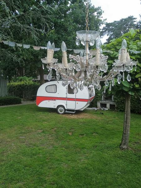 Anneke Panneke's paradise sleeping in our Yvonneke - retro caravan #9