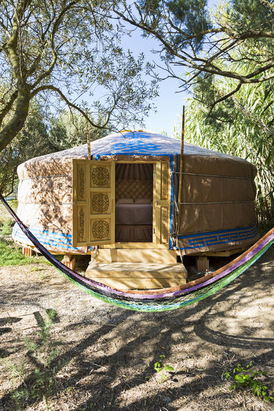 Mongolian yurt in our large gardens at 4km of wonderful beaches #1