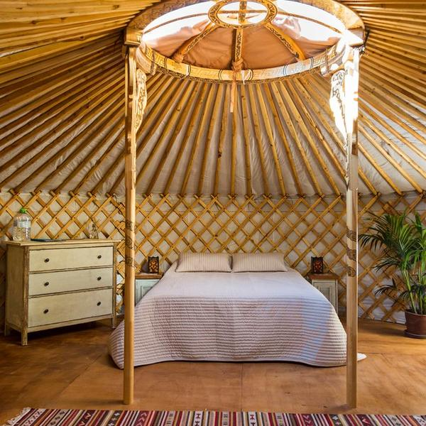 Mongolian yurt in our large gardens at 4km of wonderful beaches #2