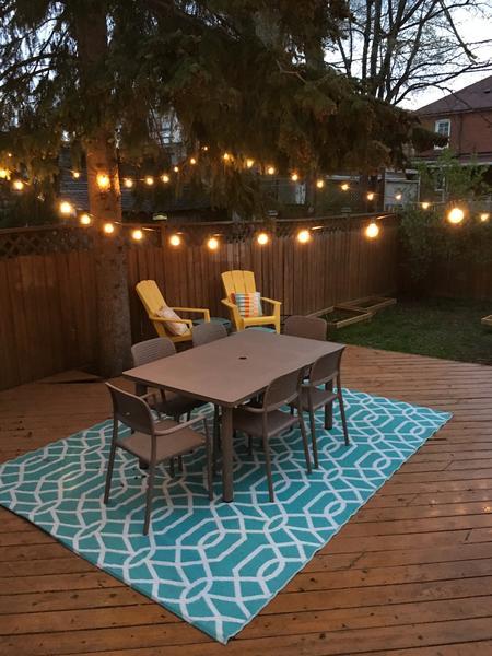 Cozy backyard in East York Toronto #1