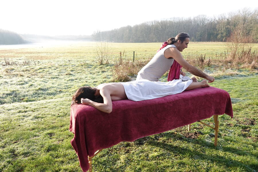 Naturist ecological camping in full nature #8