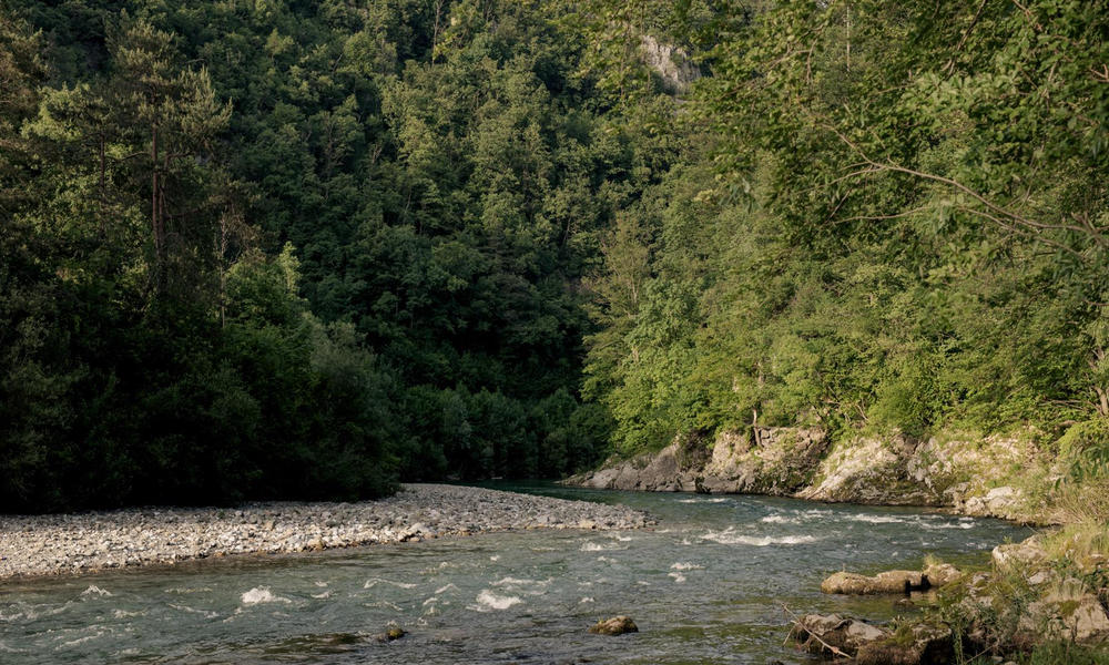 Sleeping in a tent with bedding at the river Savinja #5