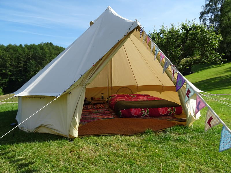 Quiet village location, camp in our back garden. Bell Tent Hire also available. #1