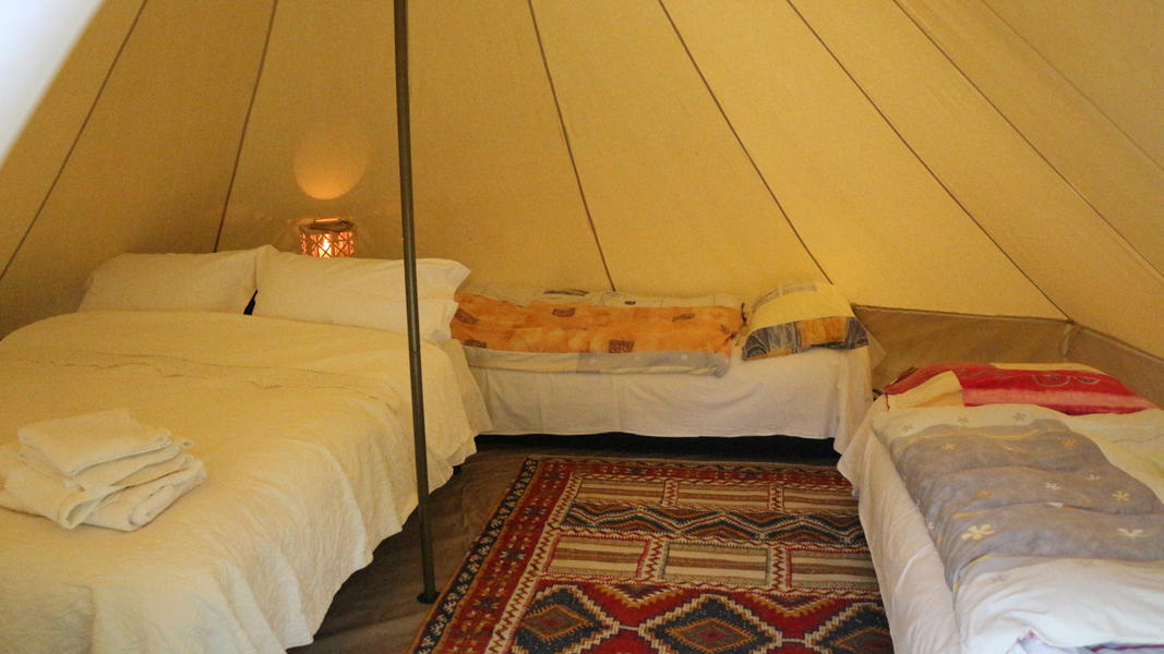 Tent on the River with a Natural Spa #5