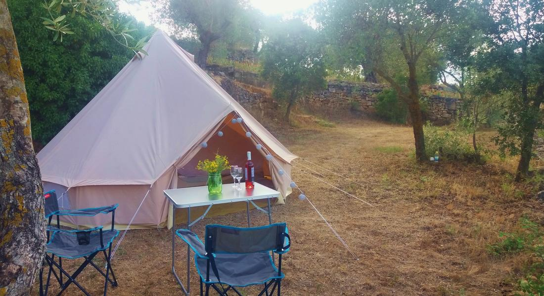 Bell-tent for rent at a spacious spot with beautiful views #1