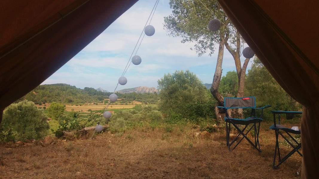 Bell-tent for rent at a spacious spot with beautiful views #4