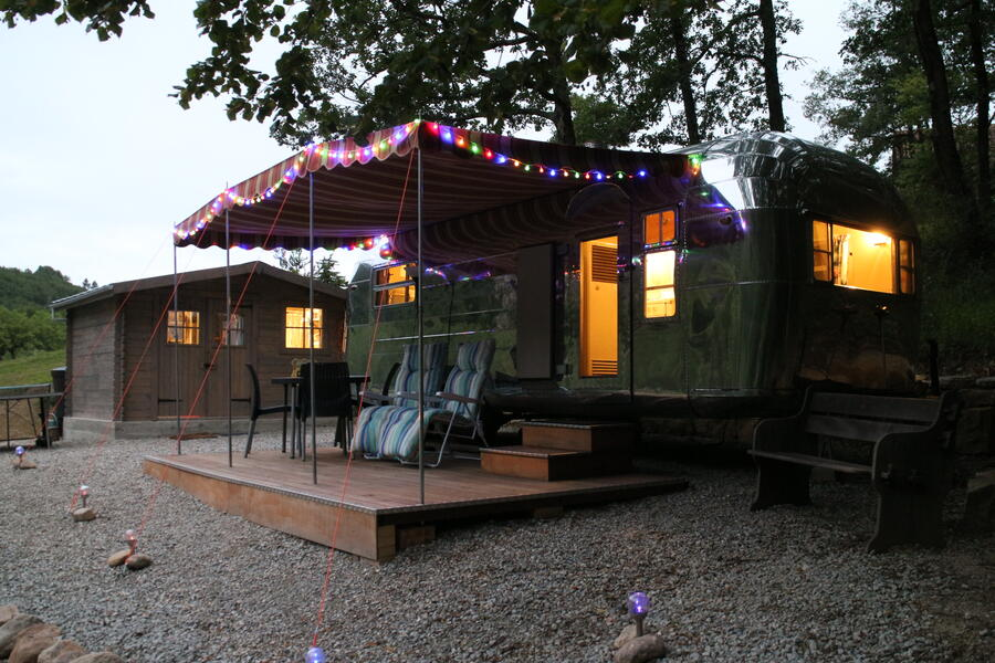 Stay in a 1956 Vintage American Trailer at Silver Streak Holidays #1