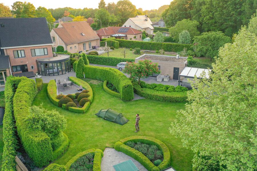 Beautiful green garden next nature place Malesbroek