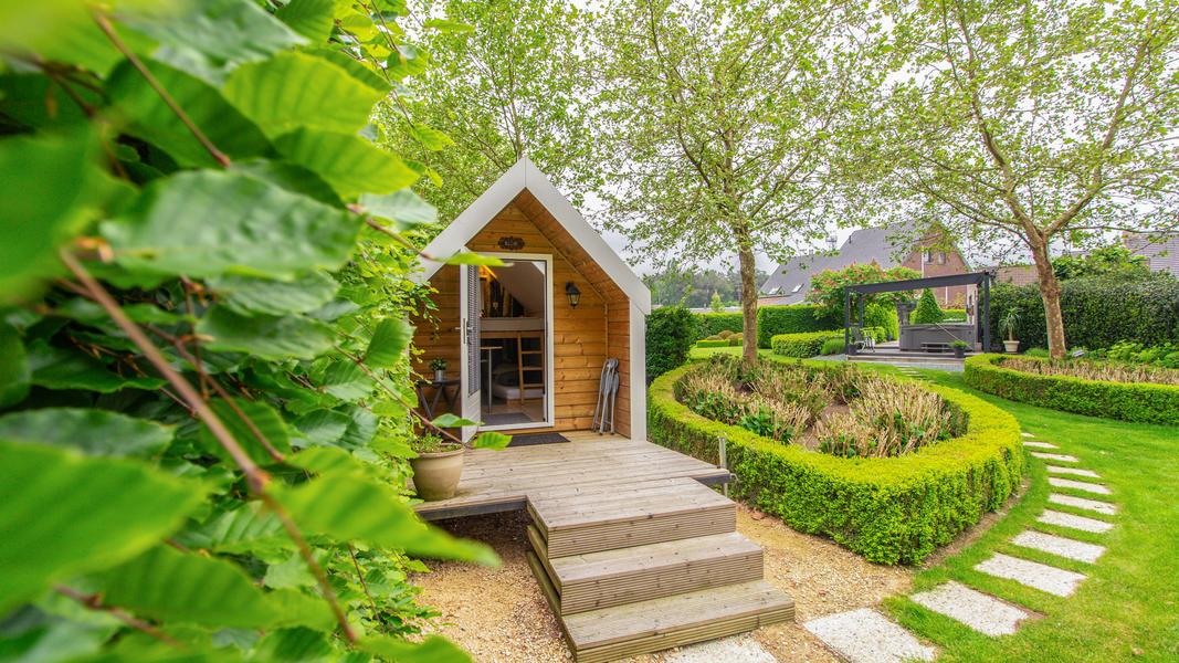 Beautiful green garden next nature place Malesbroek #4
