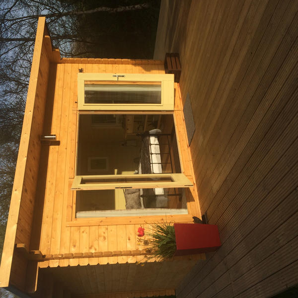 Stay in our Glamping wooden Lodges, all set up, so just move in. #3