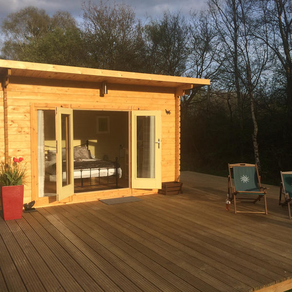 Stay in our Glamping wooden Lodges, all set up, so just move in. #4