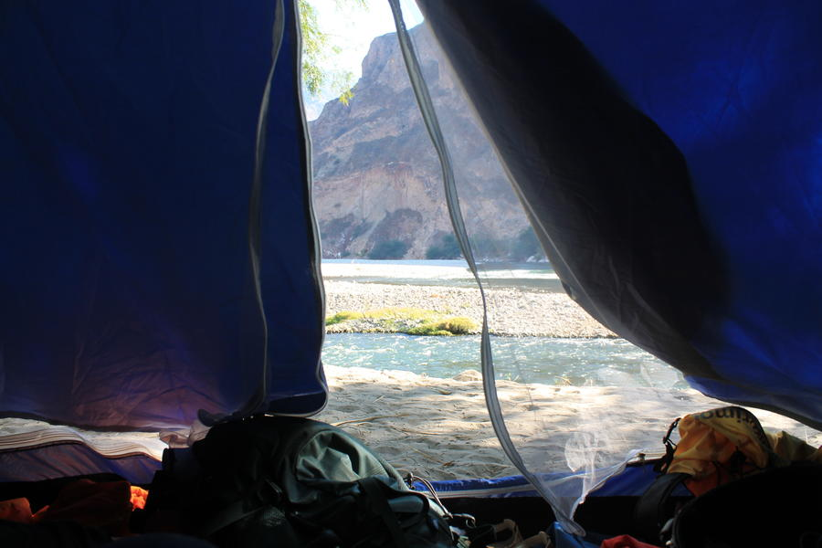 Camping at the side of the river Apurimac #1