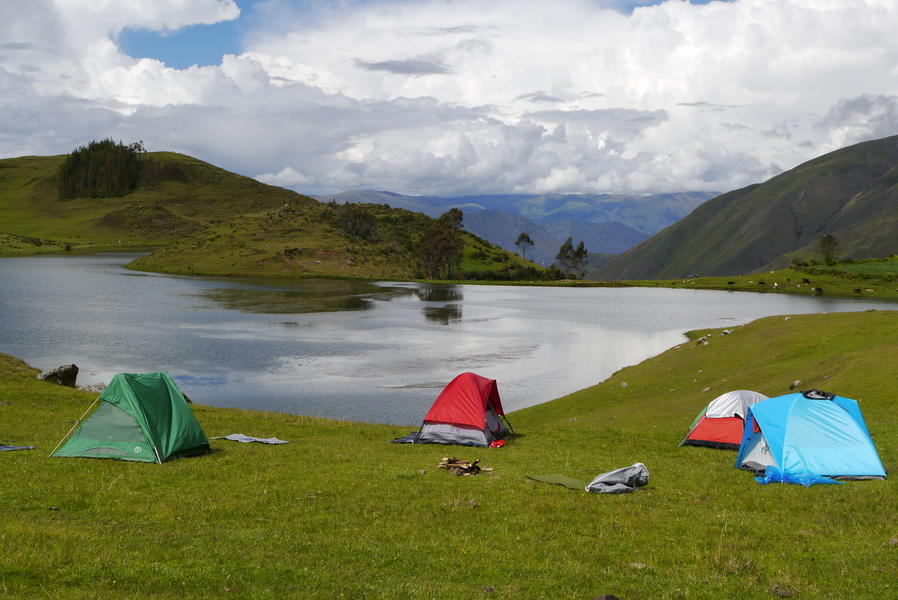 Camping at lake Ccocha, in the middle of nowhere! #1