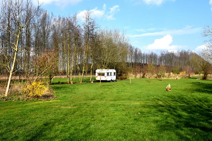 Knaus retro caravan in a natural garden #2