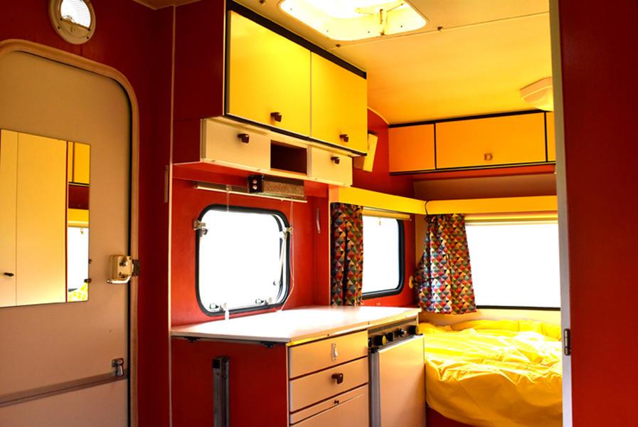 Knaus retro caravan in a natural garden #5