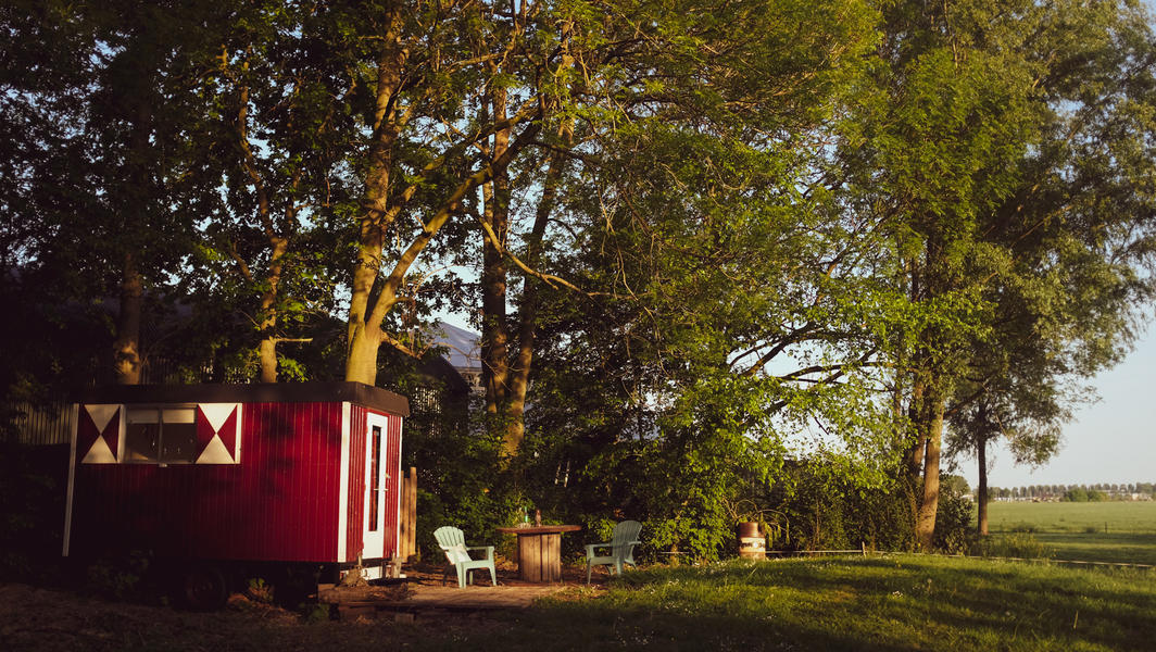 Romantic gypsy wagon with outdoor shower #1