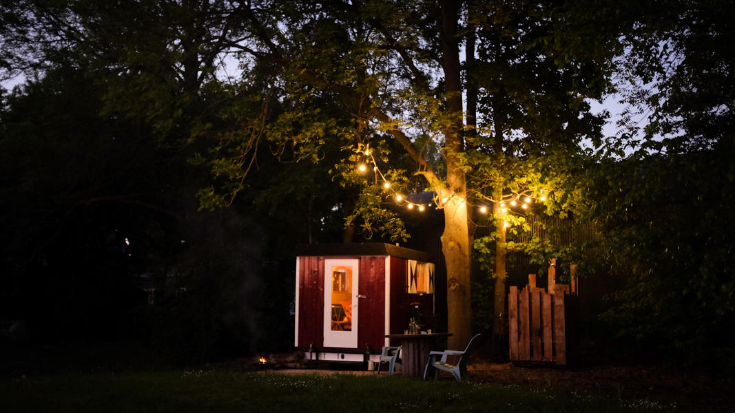 Romantic gypsy wagon with outdoor shower #2