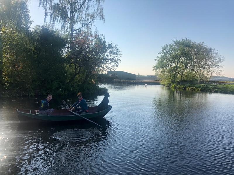 Row around the canals, see waterbirds and make a fire at night on our small camping! #1