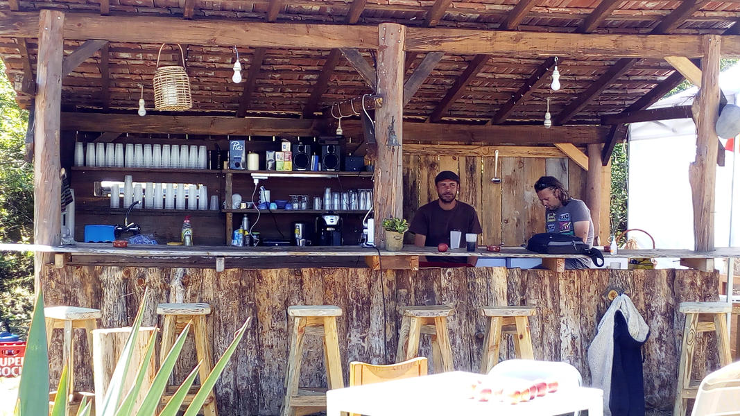 Peaceful caravan with private kitchen on David and Eli's farm in central Portugal #14