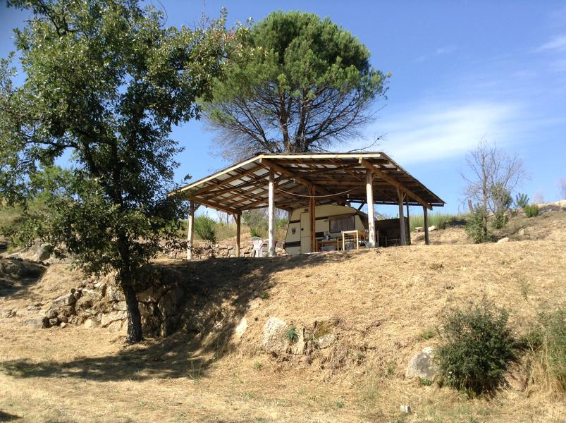 Peaceful caravan with private kitchen on David and Eli's farm in central Portugal #1