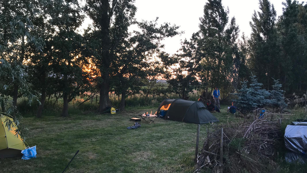 Your place for the night in the 100 m2 polder #15