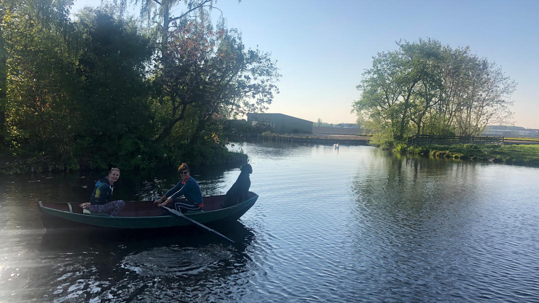 Surround yourself with nature and row a boat at our small scale camping #13