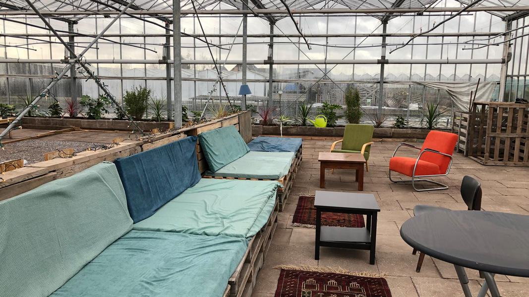 Put up your tent, sit back and relax at our plant nursery camping #21