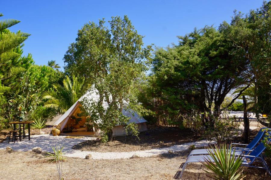 PRIVATE LUXURY BELL TENT SET IN TROPICAL GARDEN #12